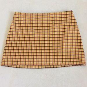 Yellow plaid UO skirt